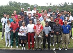ゴルフコンペ 記念写真